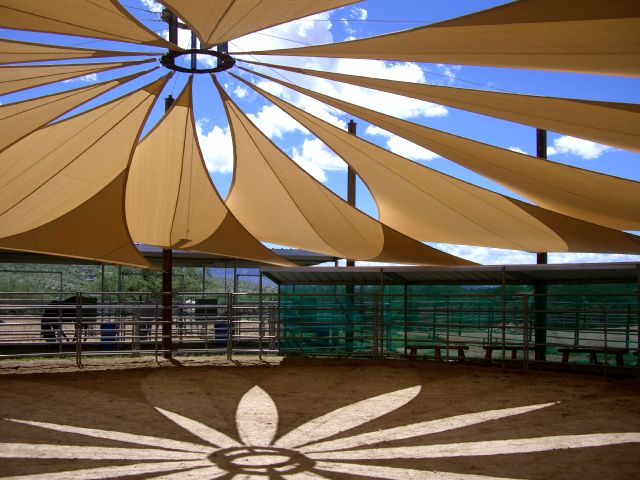 Ever heard of a shade sail alpha canvas awning for Shade structures