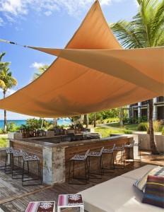 shade sail over bar