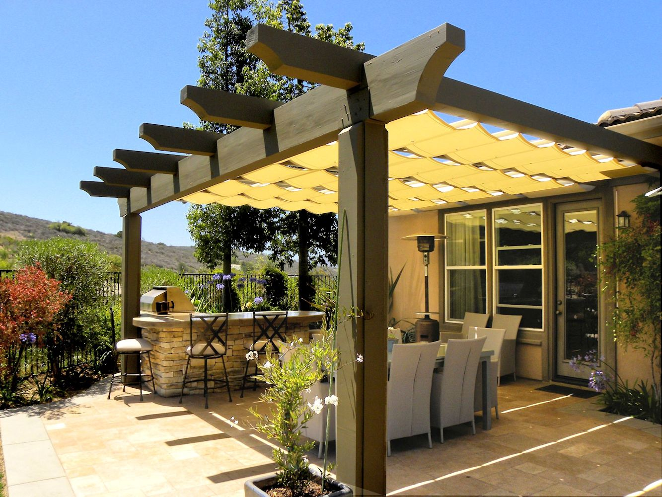 Canopies And Tarps : The artistic way to do shade alpha canvas awning